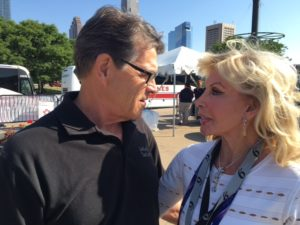 Texas Governor Rick Perry and THK